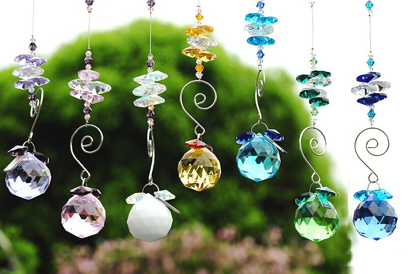 100pcs /Lot, 30mm crystal balls diy Window Suncather Chandelier Parts  Lighting Ball Crystal Prisms Crafts Hanging Pendant on Aliexpress.com