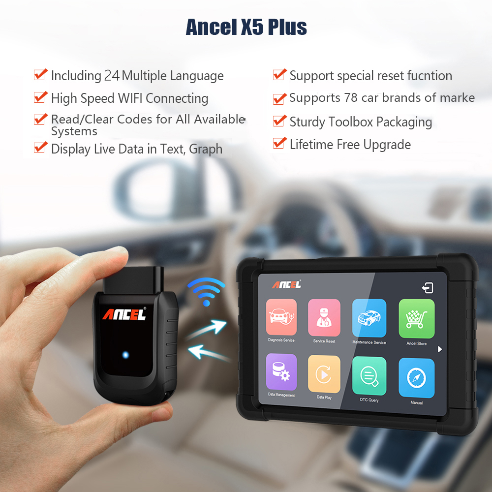Image 3 - ANCEL X5 WIFI OBD2 Automotive Scanner Full Systems Car Diagnostics ABS SRS Oil EPB DPF Diagnostic Tool OBD Scanner Free Update-in Code Readers & Scan Tools from Automobiles & Motorcycles