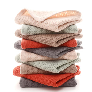 Image 4 - 1pc cotton super soft Honeycomb Towel Solid Color Super Absorbent Portable hair Face Towels Travel Bathroom Towel For Home Hotel