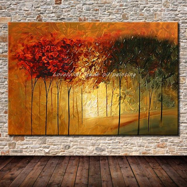 Handpainted Palette Knife Paintings Modern Home Decor Wall Art Picture Hand Made Palette Knife Oil Painting On Canvas No Framed