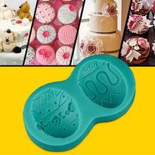 Barato de silicona moldes para decorar pasteles de decoración de pasteles de Navidad utensilios para decoración de tortas con fondant cocina accesorios para hornear