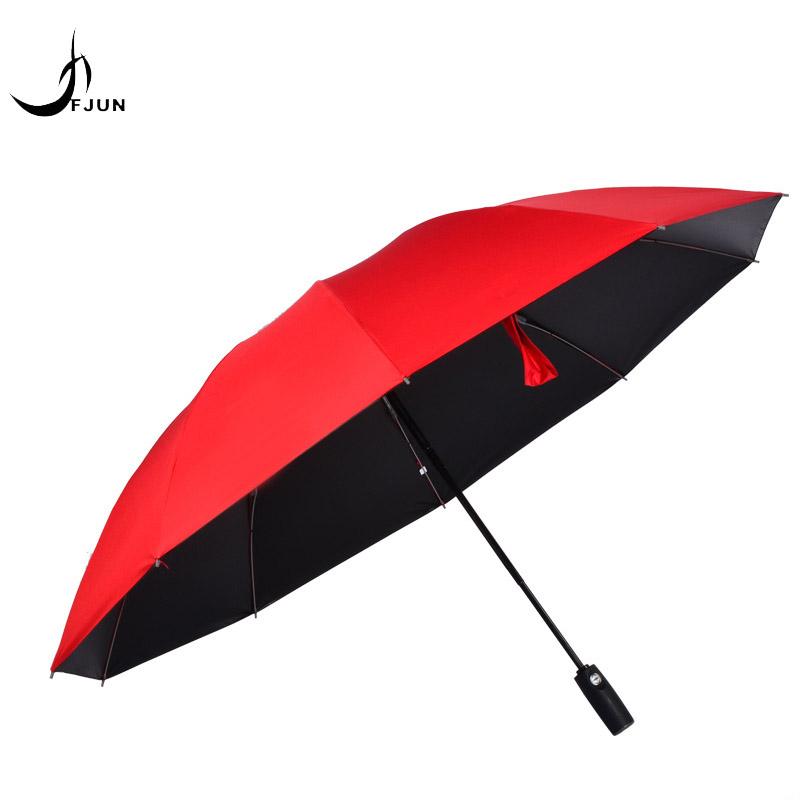 NEW Black Coating Umbrella Reverse Fashion Color Inverted Chuva Umbrella Rain Women 3 Folding Sunny Automatic Car Men Umbrellas