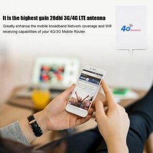 Image 5 - Внешний 28DBI белый LTE антенный кабель, разъем SMA 4G 3G усилитель сигнала, Вертикальная сеть Wi Fi, широкополосная сеть, мобильный роутер, TS 9