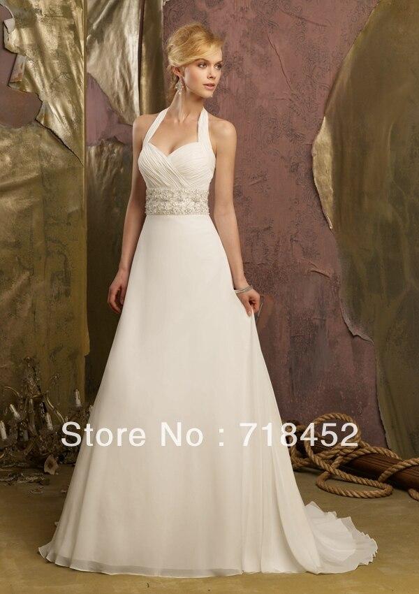 Halter Top Beach Wedding Dresses Promotion-Shop for Promotional ...