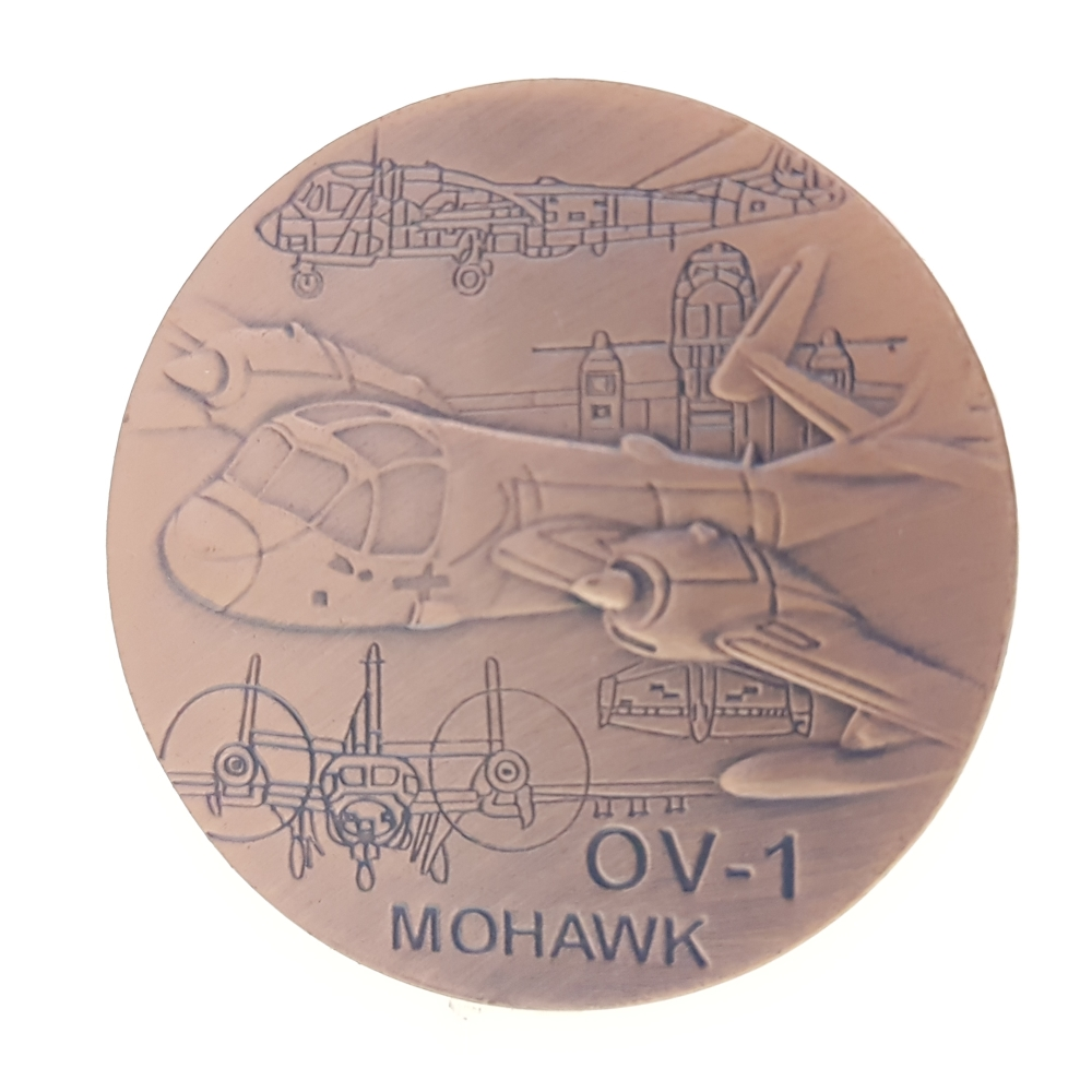 Mohawk OV-1 Aircraft United States Airforce Bronze Cent Coin Collection Medal Souvenir Badge Coins Anniversary