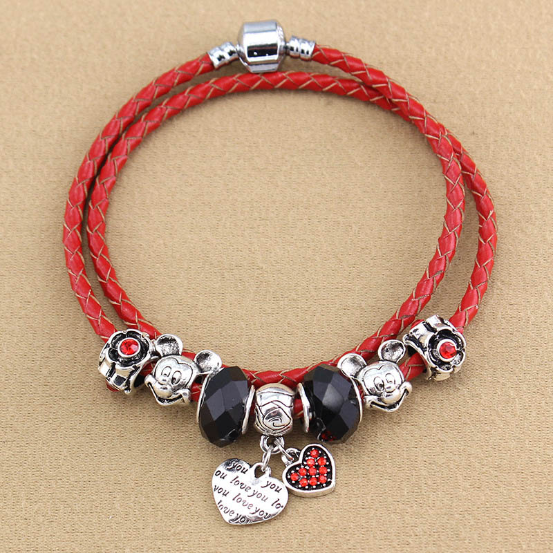 leather cord red United