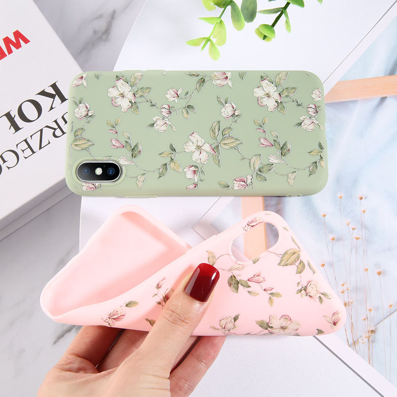 Colorful Floral Leaves Design Phone Cover Shell Made Of High-Quality Soft TPU Material For iPhone Models 2