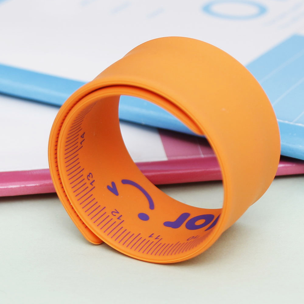 HOT Pretty Candy Color Portable Silicone Slap Bracelet Ruler Wristband School Ruler Random Color Good Gift For Kids