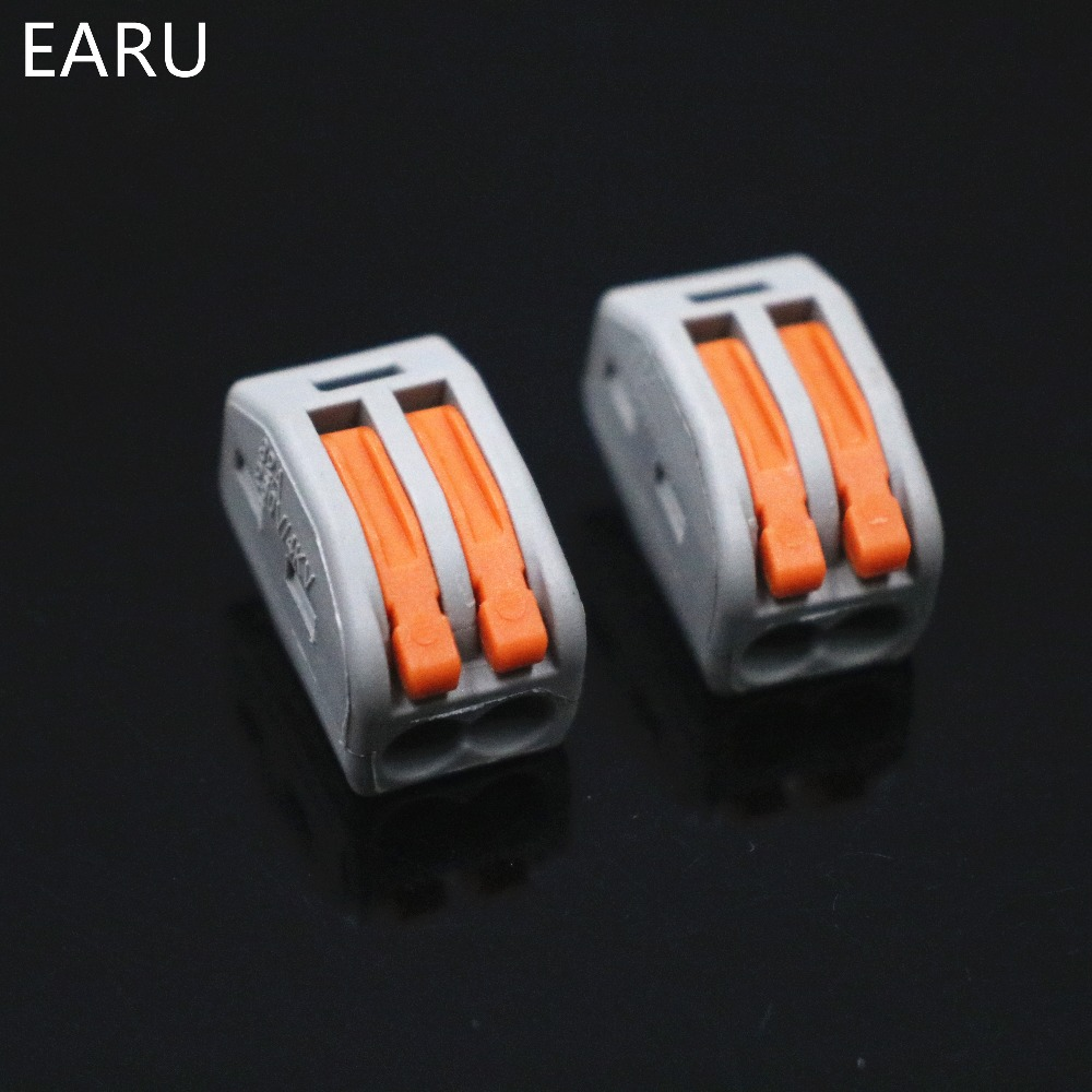 Image 3 - 2000pcs for Russian 222 412 PCT 212 Universal Compact Wire Wiring Connector 2pin Conductor Terminal Block Lever 0.08 2.5mm2Voltage Meters   -