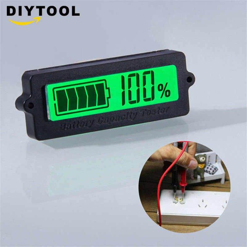 LY6W 12V LCD Acid Lead Lithium Battery Capacity Indicator Digital Voltmeter Voltage Tester