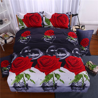 Newest! Rose3d bedding set,4pcs bed set in a bag,1xDuvet cover,1xBed sheet,2xpillowcase Queen ,King,kids Twin size