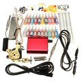 Professional Tattoo Equipment Kit  Power Supply Needles Beginner Set 20 Color Ink Body Tattoos Art Machine Tools