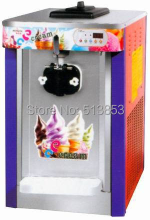 Single flavor, commercial use, countertop sundae maker, soft ice cream making machine, capacity 16~18 liters/hour realan tower case computer for body computer w60 with usb and 12v5a power supply