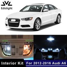 Edislight 12 шт. ледяные синие белые светодиодные лампы canbus автомобильные лампы Интерьер Пакет Комплект для 2012- Audi A6 C7 купол пластина багажника свет