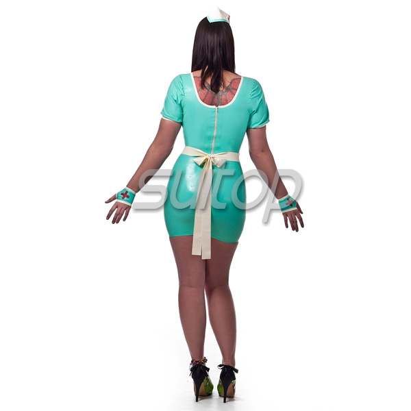Latex Nurse Uniform Hot Sell Latex Dress Including Hat