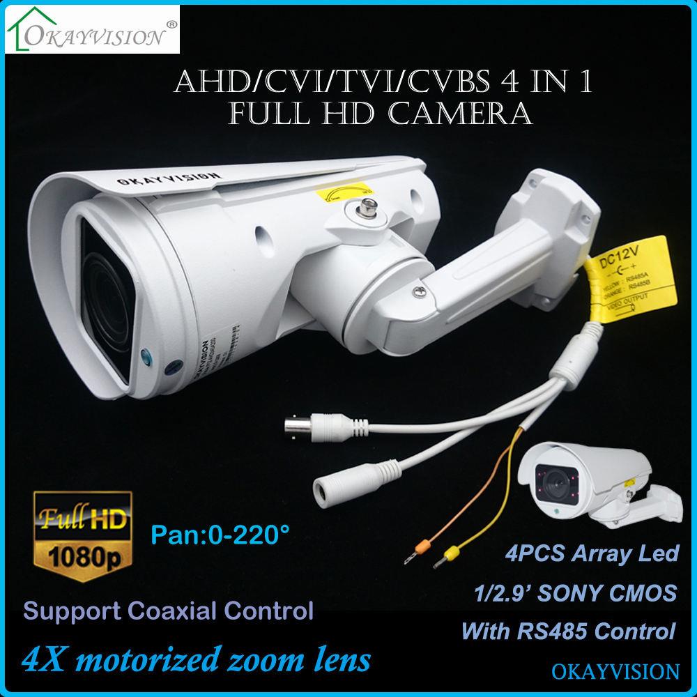 4X Motorized Zoom Lens Full HD 1080P 2.0MP Color IR PTZ Bullet Camera 4X PTZ Bullet Camera,200W AHD TVI CVI coaxial HD Camera factory price for ahd ptz bullet camera 10x motorized zoom lens full hd 1080p 2 0mp ir range 30m ptz rs485 pelco d p support