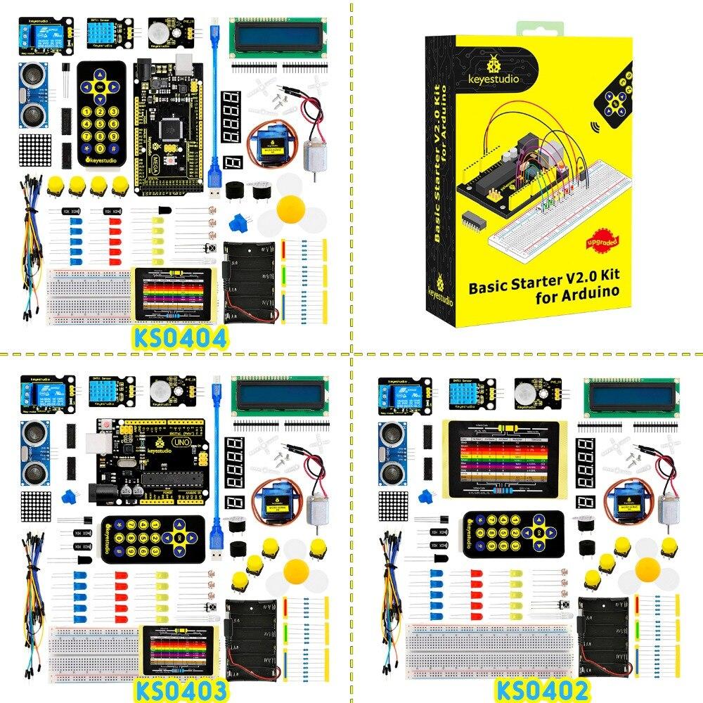 2019 NEW! Keyestudio Basic Starter V2 Kit For Arduino  UNOR3/Mega DIY Projects W/Gift Box