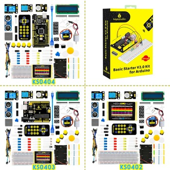 2019 NEW! Keyestudio Basic Starter V2 Kit for Arduino  UNOR3/Mega DIY Projects W/Gift Box craft arduino projects for dummies