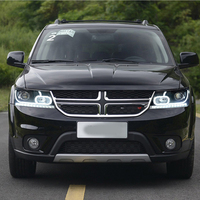 Car Head Lamp For Fiat Freemont Headlights 2008 2016 For Dodge Journey JCUV LED Headlight DRL Lens Double Beam Xenon