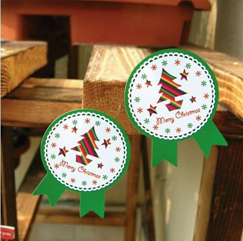 80Pcs Christmas Tree Deer Badge Handmade Cake Packaging Sealing Label Kraft Sticker Baking DIY Work Gift Stickers M1117 цены онлайн