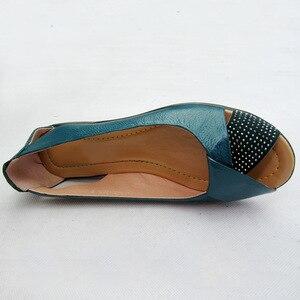 Image 3 - 2020 קיץ נשים נעלי אישה עור אמיתי פלטפורמת סנדלי בוהן פתוח אמא טריזים מזדמנים סנדלי נשים סנדלים