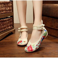 women shoes   2016 Spring new national wind embroidered shoes tendon at the end a dancing shoes