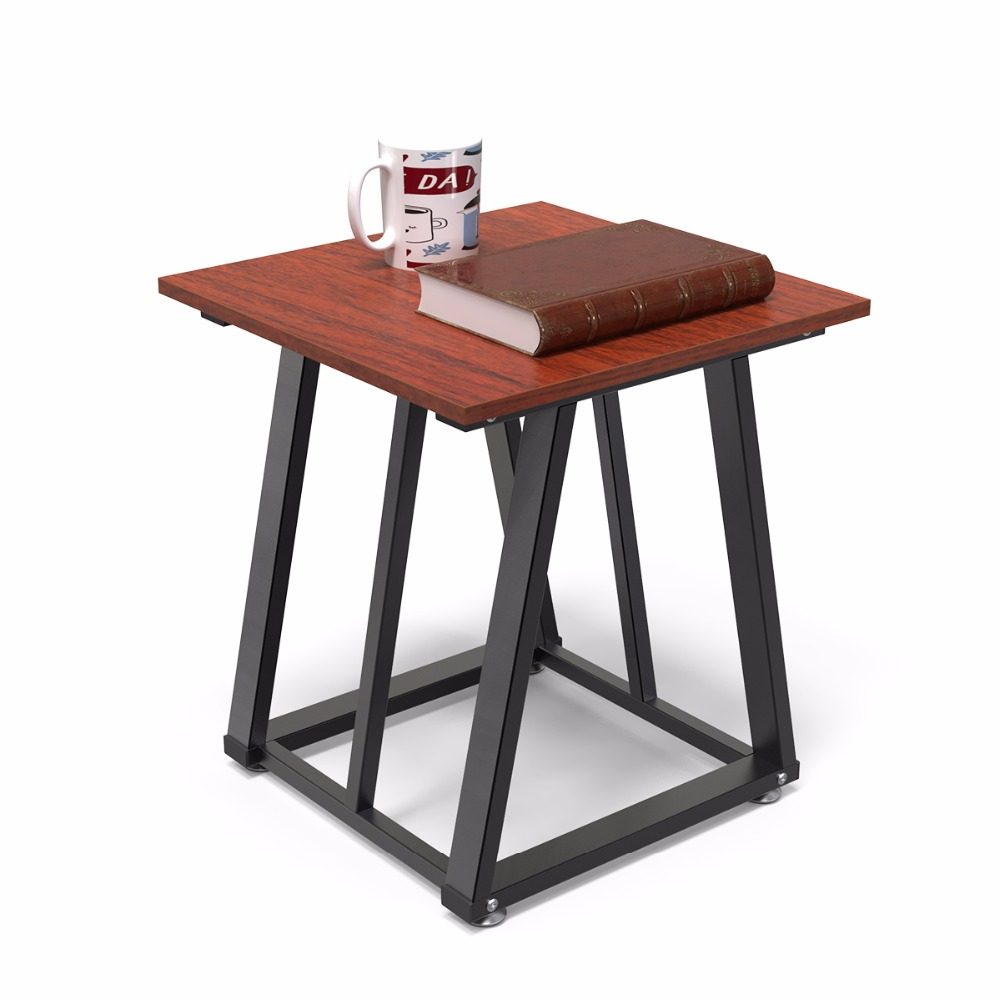 US $60.35 29% OFF Dewel Side End Table Chair Side Table with Lower Shelf  17.7 inch D x19.68 inch H Nightstand for Living Room(End Table, Walnut)-in  ...