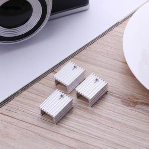 Image 3 - 10 sztuk TO 220 chłodzenie grzejnik aluminiowy arkusz radiator tranzystor radiator Cooler chłodzenie chłodnicy na PC komponenty komputerowe