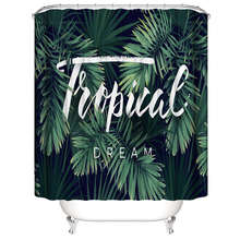 Trend shower curtain 180x180CM Tropical style Hip hop waterproof bathroom fabric polyester