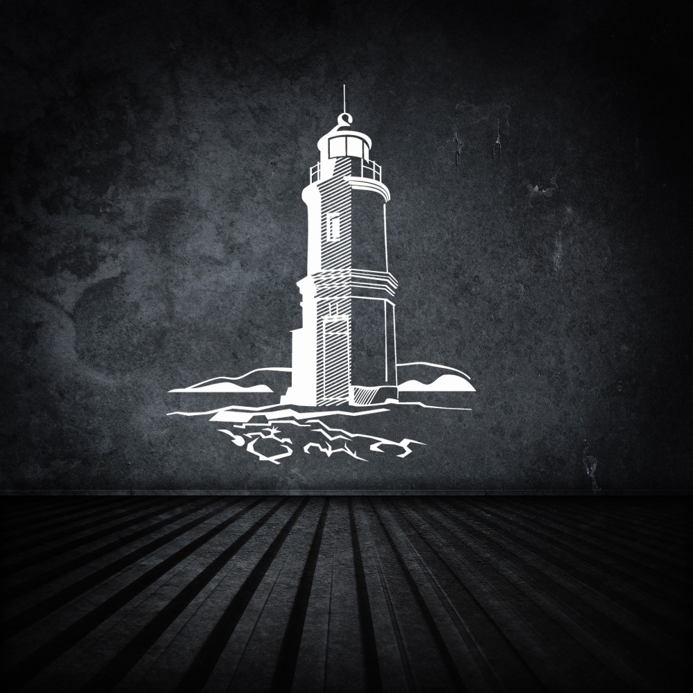 compare prices on lighthouse wall mural online shopping buy low lonely lighthouse silhouette for your living room or bedroom hot sale wallpapers removeable adhesives mural vinyl