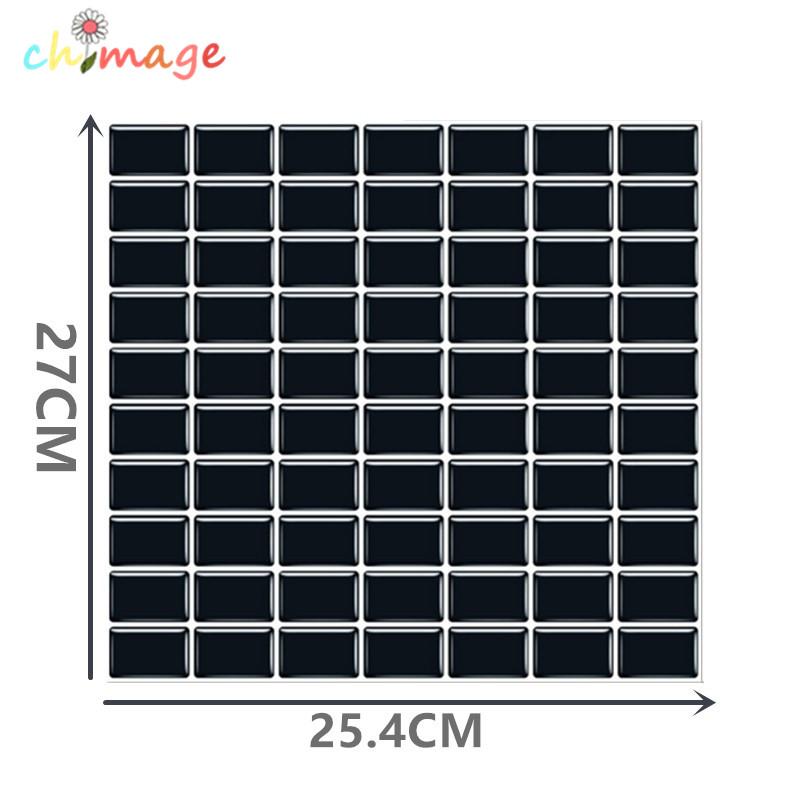 3d selbstklebende mosaik fliesen wandaufkleber diy kche bad backsplash wohnkultur folie wallpaper gchina - Mosaik Flie