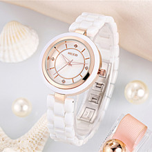 HOT Sale KEZZI Brand Ceramic Strap Watches Women Dress Watch Quartz Analog Military Watch Waterproof Wristwatch