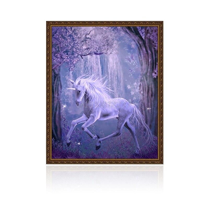 Cross Stitch Craft Home Decor DIY 5D Diamond unicorn Horse Embroidery Painting #H0VH#