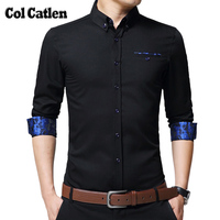 New Brand Mens Shirts Long Sleeve Casual Cotton Shirts Men High Quality Fashion Floral Business Shirt