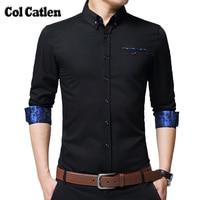 New Brand Mens Shirts Long Sleeve Casual Cotton Shirts Men High Quality Fashion Floral Business Shirt