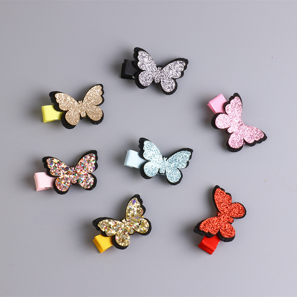1 PCS New Super Beautiful Flash Butterfly Baby Headdress Girls Hairpins Cartoon Hair Clips Kids Headwear Children Accessories