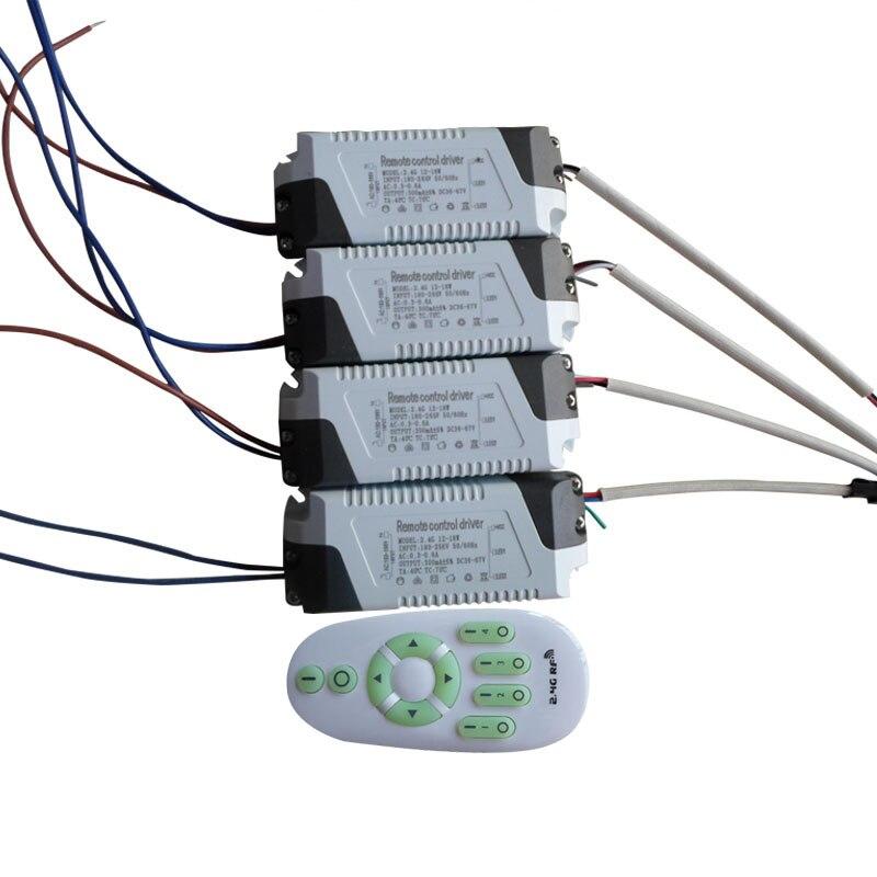 12-18 W 250mA 2.4G télécommande LED transformateur d'éclairage de conducteur pour la couleur modifiable, gradation panneau lumineux downlight plafonnier