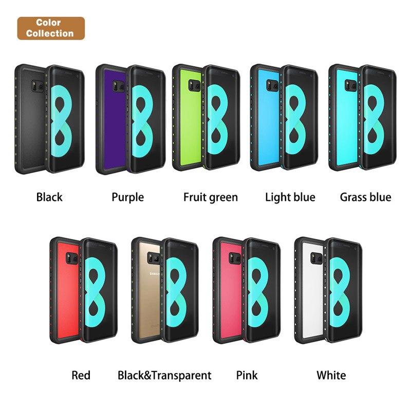Hevaral para S8 9 accesorios impermeable y a prueba de golpes Negro Azul Rosa Blanco casos impermeable a prueba de polvo Anti-knock 2018