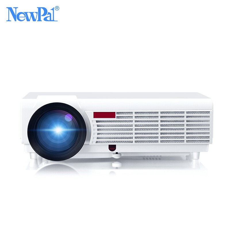 NewPal 5000Lumens Home Projector Support 1920*1080Pixels Video Android WIFI 3D Mini LED Projector Home Business School Proyector everyone gain video projector 3000 lumens highlight build in speaker android 4 2 support 1080p movie proyector tl300