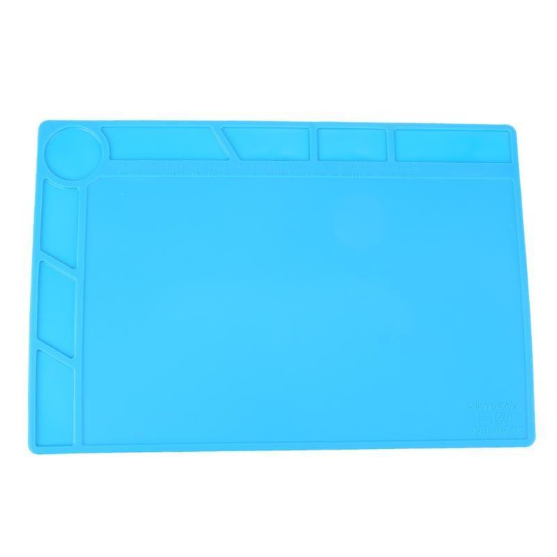 ESD Heat Insulation Soldering Desk Mat Silicone Working Mat Heat-Resistant BGA Soldering Station Pad Maintenance Pad Tool