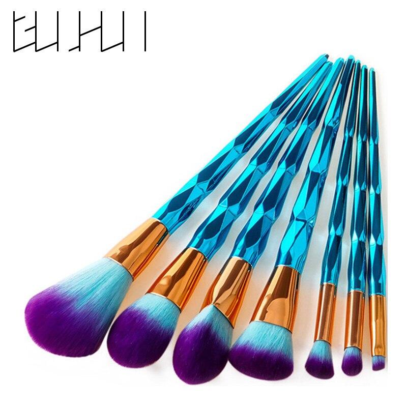 4/7/10Pcs Diamond Makeup Brushes Set Foundation Blending Powder Eyeshadow Contour Concealer Blush Cosmetic Beauty Make Up Tools