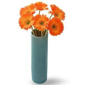 Image 2 - מלאכותי פרח PU מגע אמיתי גרברה פרח חמניות מזויף פרח מסיבת חתונת מתנות עיצוב הבית שולחן דקור