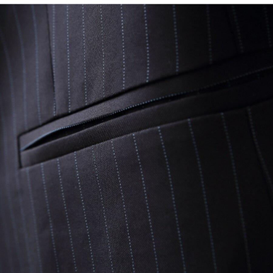 Pist çizgili blazer kadınlar ceket blazer Moda kravat bel ceketler - Bayan Giyimi - Fotoğraf 5