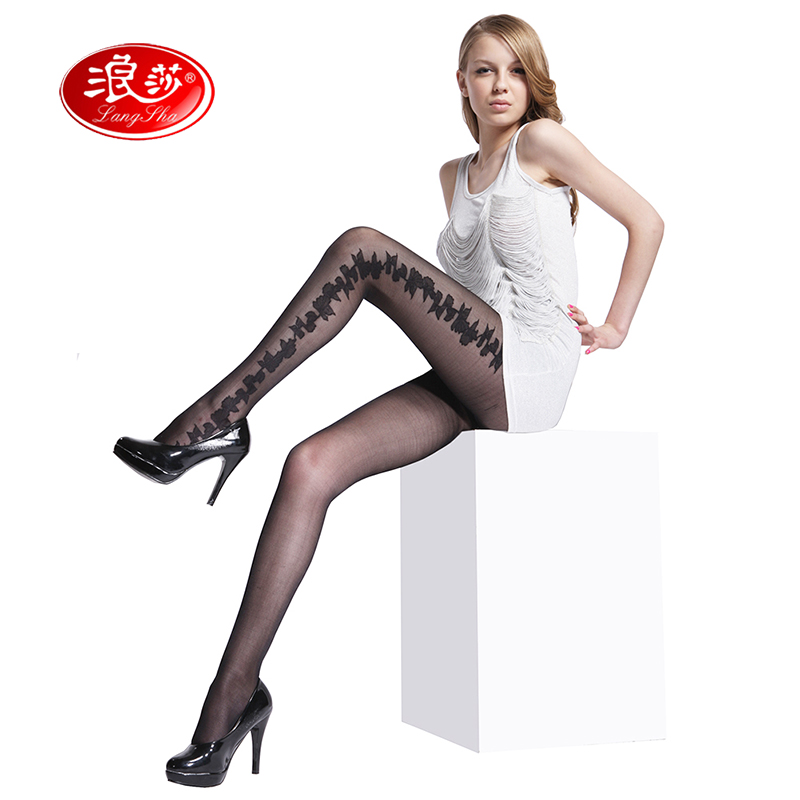 Large size women Jacquard tights 40 Denier lady flower pantyhose 3 sizes langsha