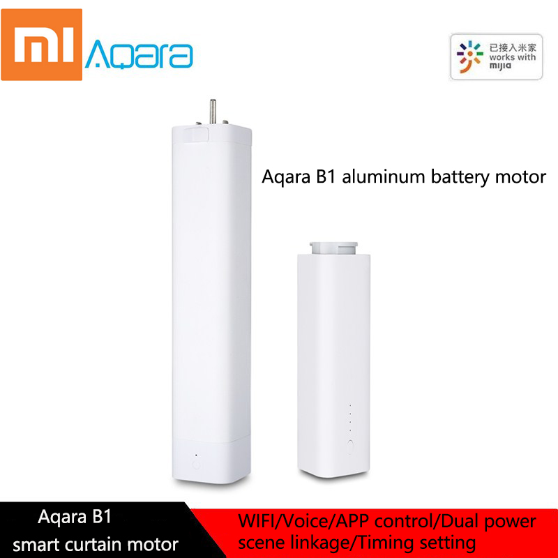 Xiaomi AQara B1 Wireless Smart Motorized Electric Curtain Motor WiFi / Voice / App Remote Control Smart Home Curtain Motor