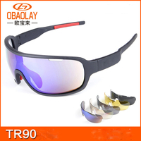 2019 OBAOLAY 5 lens Polarized Cycling Sunglasses Sport Cycling Glasses Mens Mountain Bike Goggles Cycling Eyewear Bicycle Glasse