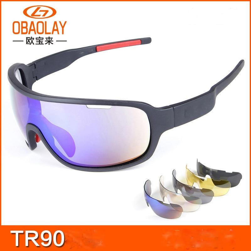 Polarized Cycling Glasses Eyewear UV 400 5 Lens MTB Bike Riding Protection Goggles Driving Fishing Sports Sunglasses Ciclismo carshiro 9291 sports riding resin lens polarized sunglasses black yellow