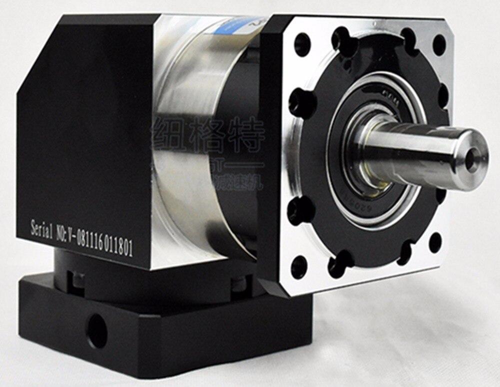 Réducteur planétaire à angle droit de 90 degrés rapport arcmin 7 3:1 à 10:1 pour 130mm 2kw arbre d'entrée de servomoteur AC 22mm