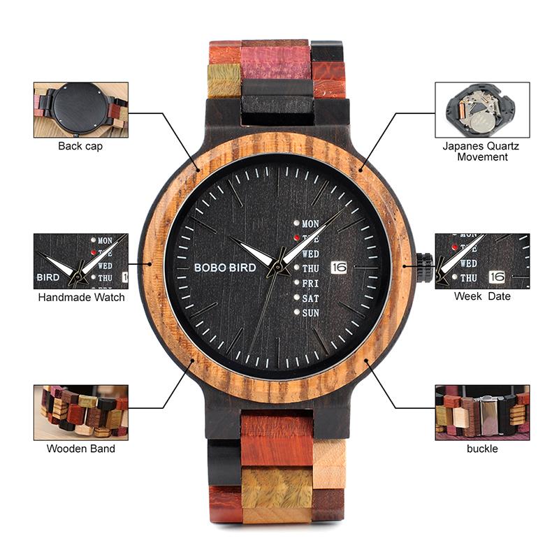 wooden watches for men bobo bird wrist watch (59)