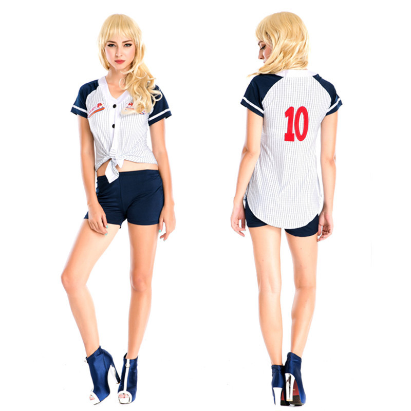High Quality Sexy Baseball Cheerleader Costume High School Girl